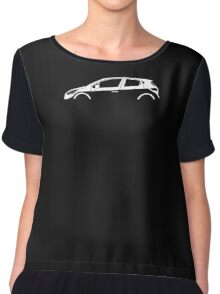 Car Silhouette - For  Renault Clio MK4 (2012-) hatchback Chiffon Top