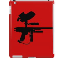 Black Paintball Marker iPad Case/Skin