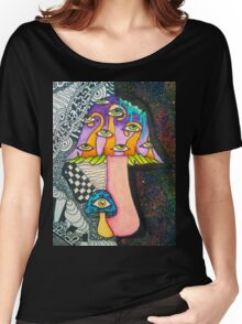 All-Seeing Mushrooms Women's Relaxed Fit T-Shirt