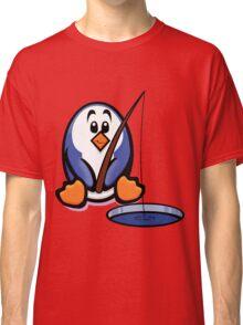 HeinyR- Fishing Penguin Classic T-Shirt