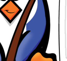 HeinyR- Fishing Penguin Sticker