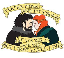 Jon and Ygritte by timetoewill