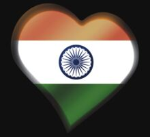 Indian Flag - India - Heart Kids Clothes
