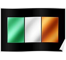 Irish Flag - Ireland - Metallic Poster