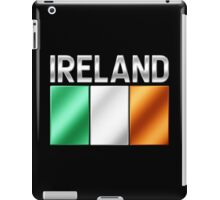 Ireland - Irish Flag & Text - Metallic iPad Case/Skin