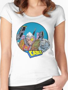 Cable • X-Men Comics Women's Fitted Scoop T-Shirt