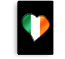 Irish Flag - Ireland - Heart Canvas Print