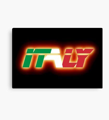 Italy - Flag Logo - Glowing Canvas Print