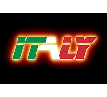 Italy - Flag Logo - Glowing Photographic Print