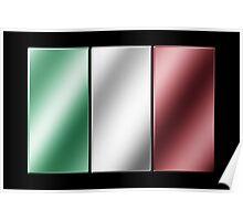 Italian Flag - Italy - Metallic Poster