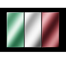 Italian Flag - Italy - Metallic Photographic Print