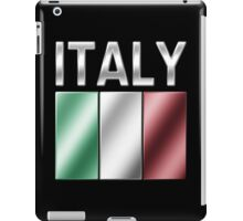 Italy - Italian Flag & Text - Metallic iPad Case/Skin