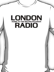 British Invasion - London Radio (Black) T-Shirt