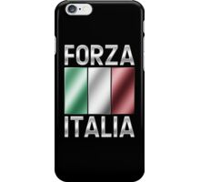 Forza Italia - Italian Flag & Text - Metallic iPhone Case/Skin