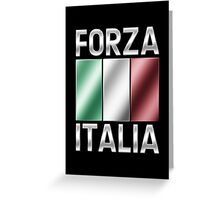 Forza Italia - Italian Flag & Text - Metallic Greeting Card
