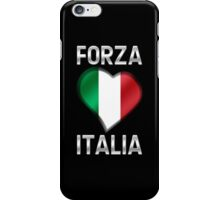 Forza Italia - Italian Flag Heart & Text - Metallic iPhone Case/Skin