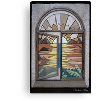Window in leather Canvas Print