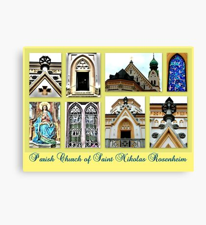 Parish Church Saint Nikolas Rosenheim Canvas Print