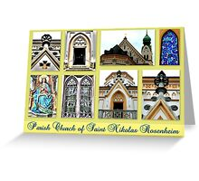 Parish Church Saint Nikolas Rosenheim Greeting Card