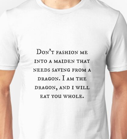 Dragon of Feminism 2 Unisex T-Shirt