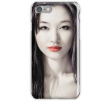 Sensual artistic beauty portrait of young asian woman face art photo print iPhone Case/Skin