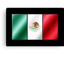 Mexican Flag - Mexico - Metallic Canvas Print