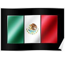 Mexican Flag - Mexico - Metallic Poster
