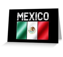 Mexico - Mexican Flag & Text - Metallic Greeting Card