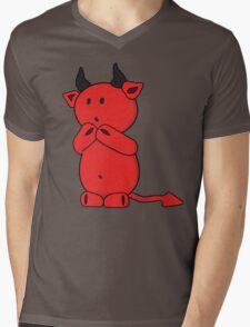 Little Devil Mens V-Neck T-Shirt