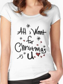 All i want for Christmas is you Women's Fitted Scoop T-Shirt