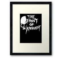The Front of Armament - Text Framed Print