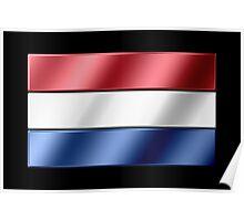 Dutch Flag - Netherlands - Metallic Poster