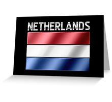 Netherlands - Dutch Flag & Text - Metallic Greeting Card