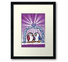 HeinyR- Penguin Love Framed Print