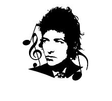Bob Dylan - Stylized Photographic Print