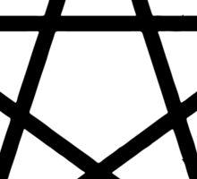 Pentagram | Pentacle | Star | Magic Symbol Print White on Pink Sticker