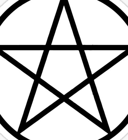Pentagram | Pentacle | Star | Magic Symbol Print White on Pink Sticker