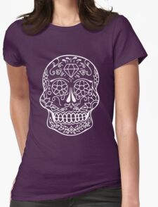 Sugar Skull (Inverted) Womens Fitted T-Shirt