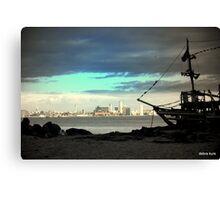 Liverpool Skyline from New Brighton  Canvas Print