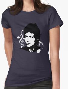 Bob Dylan - Stylized White Ver. Womens Fitted T-Shirt