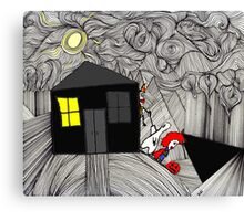 Sneaking off on Halloween Canvas Print