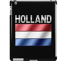 Holland - Dutch Flag & Text - Metallic iPad Case/Skin