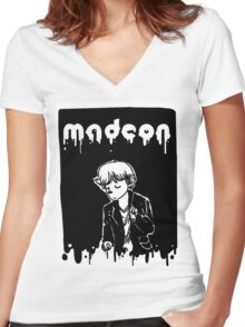madeon- inktober print Women's Fitted V-Neck T-Shirt