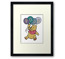 Winnie the Pooh with Balloons Framed Print