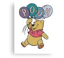 Winnie the Pooh with Balloons Canvas Print