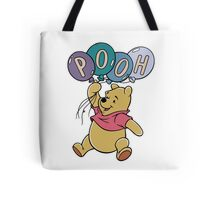 Winnie the Pooh with Balloons Tote Bag