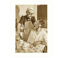 Futuristic breakfast #3 Art Print