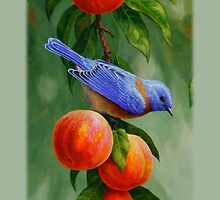 Bluebird and Peaches Phone Case by csforest