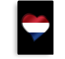 Dutch Flag - Netherlands - Heart Canvas Print