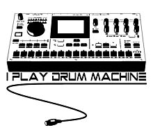 I Play Drum Machine Photographic Print